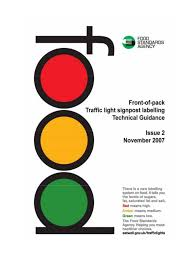 Traffic Light Food Chart Front Of Pack Traffic Light Signpost Labelling Food