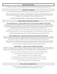Sample Technical Resume Resume Template Technical Writing Resume Examples Free Career 11