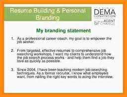 Examples Of Branding Statements For A Resume 9 10 Personal Branding Statement Example Lasweetvida Com