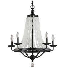 chloe collection 5 light black chandelier