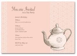 tea party templates printable tea party birthday invitation template
