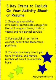 Whatuld Resume Include You With Your College Application Does
