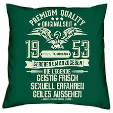 Lustiges Sprüche Kissen 66 Jahre Jahrgang 1953 Geb 66 66 Geburtstag