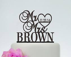 wedding decorations etsy Wedding Decorations Etsy wedding cake topper,mr and mrs cake topper with last name,custom cake topper etsy rustic wedding decorations