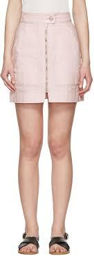 isabel marant pink workwear denim demie miniskirt women isabel marant boots barneys t