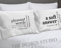Scripture Pillowcase, Religious Pillowcase, Bed Pillow Covers,  Inspirational Pillowcases, Scripture Linens,