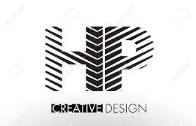 Hp H P ライン文字デザイン創造的なエレガントなゼブラ ベクトル イラスト