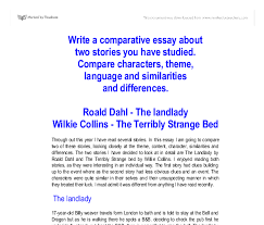 write a comparative essay about two stories you have studied  document image preview