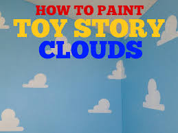 how to paint toy story clouds living