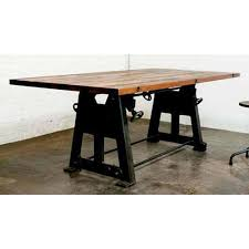 industrial furniture legs. Industrial Dining Table With Cast Iron Leg Base Furniture Legs N