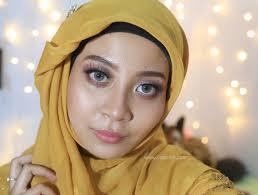 belajar makeup tutorial makeup lamaran hijab dan outfit