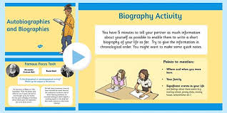 powerpoint biography autobiography and biography powerpoint biography