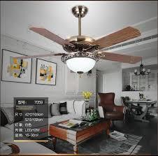 Living Room Ceiling Fan Mesmerizing Living Room Dining Room European Antique Wood Leaf Fan Pendant Fan