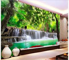 jungle wallpaper for walls. Delighful Jungle Customized 3d Photo Wallpaper Wall Murals 3 D Hd Jungle River  Waterfall Adornment Picture Living Room Wallpaperin Wallpapers From Home  With Jungle Wallpaper For Walls U
