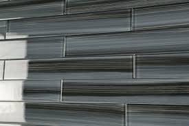 Kitchen Backsplash Glass Tile Dark Gray Black 2x12 Subway Glass Tile For Kitchen Backsplash Or