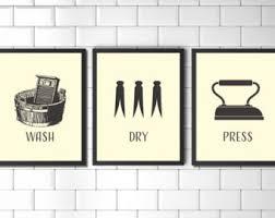 popular items laundry room decor. Set Of Prints, Wall Art Print Set, Laundry Room, Vintage Style Popular Items Room Decor