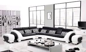 black and white modern furniture. Furniture Endearing Black And White Leather Sofa Free Shipping Large L Shaped Genuine Hard Wood Frame Modern H