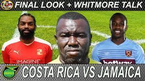 Costa Rica vs Jamaica Reggae Boyz Match ...