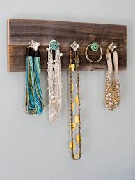 Barn Wood Necklace Hanger Jewelry Organize Knobs By Filafix