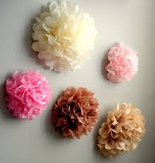 popular items for 3d wall flower on 5 tissue paper pom flowers choose your colors home decor