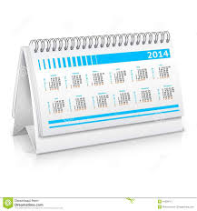 Desk Calendar Mockup Stock Vector Illustration Of Object 41089715