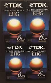 Lot Of 4 TDK Blank <b>VHS</b> Ultimate Performance <b>E</b>-HG 6 Hours Extra ...
