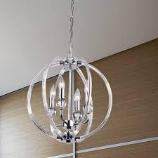 griselda contemporary chrome finish orb chandelier free