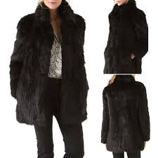 image is loading women winter fashion black collar warm faux fur