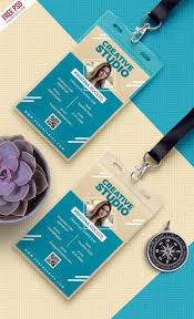 Free Card Design Template Office Design Psd Photo Name Identity Id