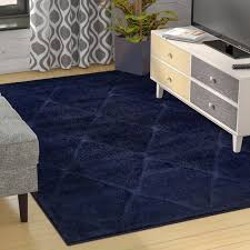 best navy blue area rug 8 10