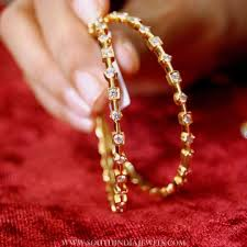 Latest South Indian Bangles Design Simple Diamond Bangles From Manjula Jewels Gold Bangles