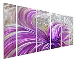 pure art purple blossoms flower metal wall art painting large floral contemporary decor 3d on purple metal wall art flower with amazon pure art purple blossoms flower metal wall art painting