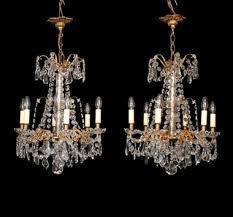 antique chandelier pairs