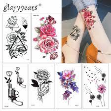 Glaryyears 15 листов временные цветные тату наклейки поддельные тату