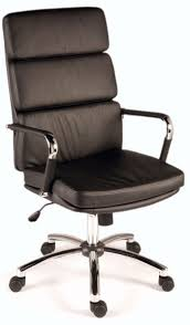 leather and chrome chair. Deco Black Leather/Chrome Designer Executive Office Chair Leather And Chrome