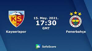 Kayserispor vs Fenerbahçe live score, H2H and lineups