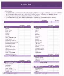 wedding budget template for excel excel wedding budget template sheet growinggarden info