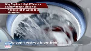 How Do High Efficiency Washers Work High Efficiency Top Load Washers Vs Front Load Washers Youtube