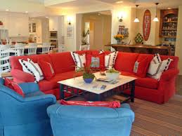 top red living room casual. Perfect Casual Red And Blue Living Room Red And Blue Living Room Casual Coastal  Hgtv   To Top Casual L