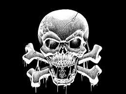wallpaper skulls skull and crossbones