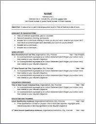 Chronological Resume Format Template - Resume Builder