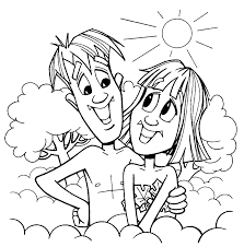 Small Picture Adam And Eve Coloring Page Lds Virtrencom