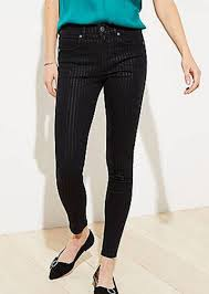 Pure Light Slim Before And After Shimmer Pinstripe Slim Pocket Skinny Jeans In Black