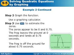 example 2 continued step 2 graph the function use a graphing calculator step 3