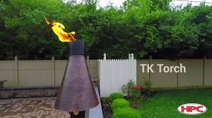 outdoor fire feature gas tiki torch