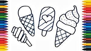 ice cream drawing ice cream coloring book fun painting ice cream coloring page