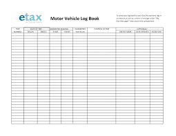 Vehicle Log Book Template Motor Vehicle Log Book Template
