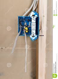 electrical home wiring outlet box royalty stock image image electrical home wiring outlet box