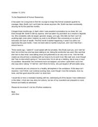 4 Ways To Write A Letter Of Complaint To Human Resources