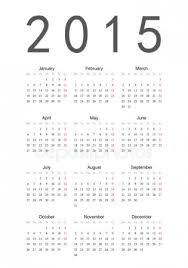 Simple Calendar Template 2015 Empty Calendar Template 2015 Stock Vectors Royalty Free